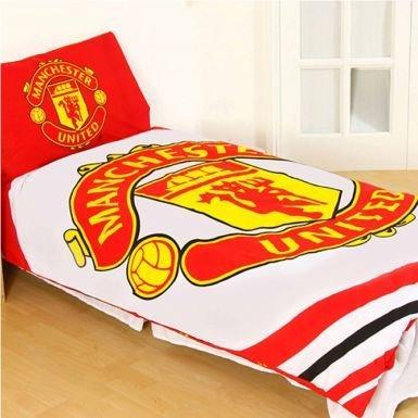 Manchester United Official Licensed Single Duvet Cover Set (Reversible)