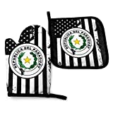 Fuyon Usa Coat of Arm Paraguay Flag USA Coat of Arms Jamaica Flag Oven Mitts and Potholders BBQ Gloves-Oven Mitts and Pot Holders Cooking Gloves for Kitchen Cooking Baking Grilling Set of 2