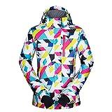 SJIUH Traje de Esquiar,Snowboard Jacket Women New Snow Windproof Waterproof Breathable Skiing and Snowboarding Outdoor Winter Brands Ski Jacket Women,S