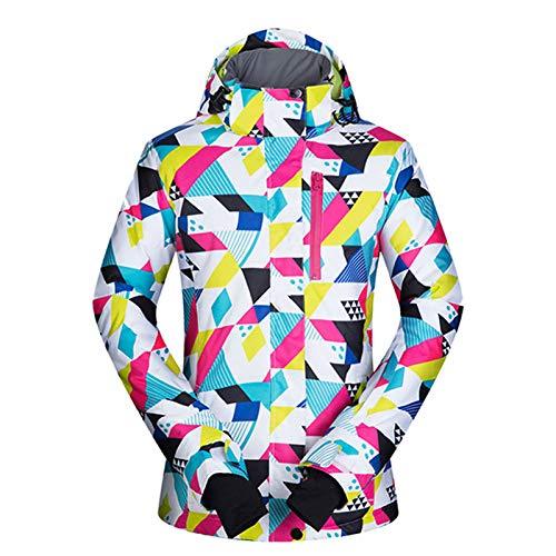 EIJFKNC Esquí Chaqueta de Snowboard para Mujer Snow Windproof Impermeable y Transpirable Esquí y Snowboard Outdoor Winter Ski Jacket Women