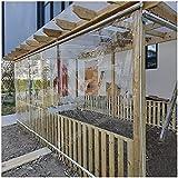 LJFPB Persiana Enrollable Persianas enrollables Transparentes de pérgola, 60cm / 90cm / 110cm / 130cm de Ancho Cortinas Impermeables con Cadena y Accesorio de instalación Instalación (Size:130x170cm)