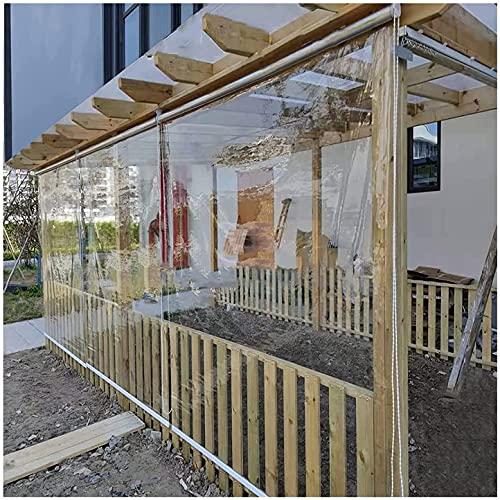 LJFPB Persiana Enrollable Persianas enrollables Transparentes de pérgola, 60cm / 90cm / 110cm / 130cm de Ancho Cortinas Impermeables con Cadena y Accesorio de instalación Instalación (Size:130x210cm)