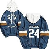 Hoodie Stilinski 24 Lahey McCall Pullover Sweatshirt Male Print Hooded Hip Hop Hoddies Streetwear Teen Wolf (Bule1,M)