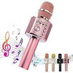 top 10 good karaoke microphone Ankuka Bluetooth Karaoke Microphone, 3 in 1 multifunction portable wireless karaoke machine …