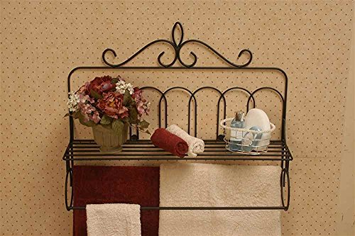 Purchase J&J Wire Victorian Double Quilt Holder with Shelf