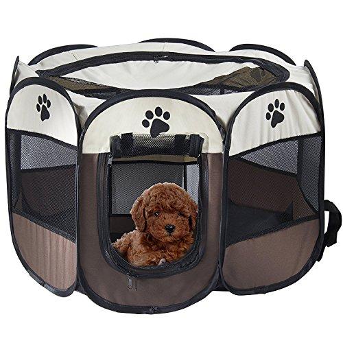 REAYOU Pet Portátil Plegable Playpen Portable Pet House, Carpa Plegable Casa para...