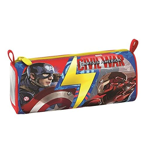 Portapenne Captain America Civil War - Scuola, Poliestere, Multicolore