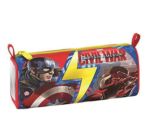 Seven Captain America Civil War 3B8021603-591 Portapenne da Scuola, Poliestere, Multicolore