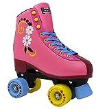 Lenexa uGOgrl Roller Skates for Girls - Kids Quad Roller Skate - Indoor, Outdoor, Derby Children's Skate - Great Youth Skates for Beginners - Pink (Men 6 / Women 8)