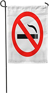 Nick Thoreaufhed Garden Flag Red Smoke No Smoking Sign Not Danger Cigar Allowed Ban Home Yard House Decor Barnner Outdoor Stand 12x18 Inches Flag