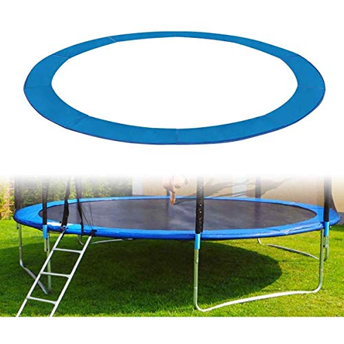 Trampoline Cover Replacement Surround Pad Foam Safety Guard Spring Padding Pads Tear-Resistant Edge Protection - Blue for Round Frames,13ft