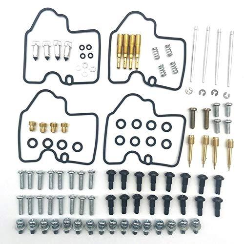 Kit de reconstrucción de carburador 4 Set Kit de reparación de carburador de carburador de carburador para Yamaha yzf R6 600 1999-2002 Kit de reconstrucción de carburador Walbro ( Color : As shown )