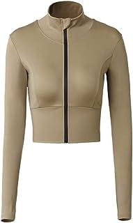 KKKJJJ Workout Clothes Women Sportswear Yoga Coat Tight Sexy Women's Long Sleeve 3 Colors.