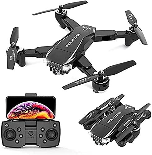 JJDSN 5G FPV Mini Drone Plegable 4k HD Cámara Dual GPS Posicionamiento de Flujo óptico Nuevos Drones Vuelan 25-30 Mins Transmisión en Tiempo Real RC Quadcopter, 1Battery