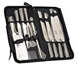 Ross Henery Professional, Set di coltelli da chef Eclipse da 9 pezzi in acciaio inox con custodia a...