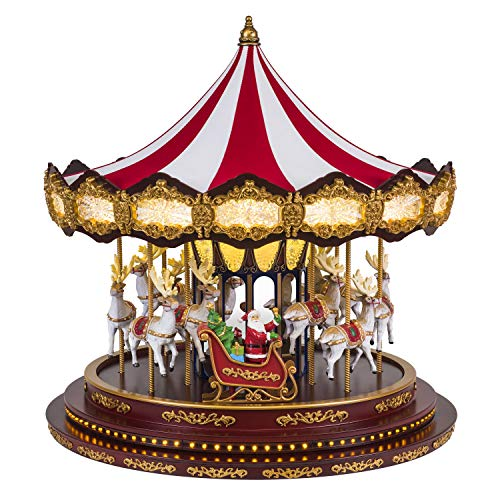 Mr. Christmas Deluxe Christmas Carousel Holiday Decoration, One Size, Multi