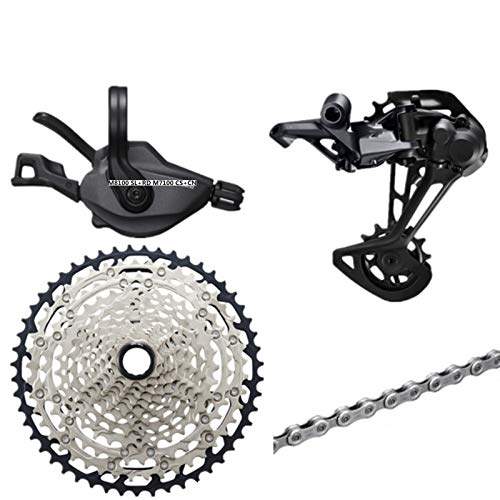 TSAUTOP Newest Deo-RE XT SLX M8100 M7100 M6100 Groupset MTB Mountain Bike 1x12-Speed ​​10-51T M7100 M8100 Shifter Shifter Deragliatore Posteriore per Shi-MA-No (Color : M8100 And M7100 51T)