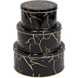 Best Tins With Cupcake Recipes - Juvale Black Marble Metal Tins with Lids, Kitchen Review