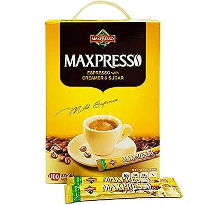 Maxpresso 3-in-1 Korean Instant Coffee, 100 Sticks