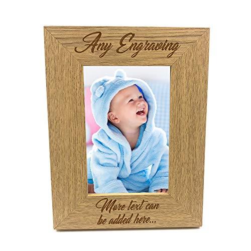 ukgiftstoreonline Personalised Wooden Photo 4 x 6 Frame Custom Engraved Any...
