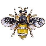 GPWDSN Broche de cristal de abejorro a la moda para disfraz de abeja