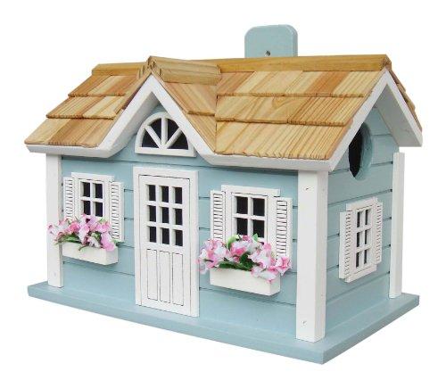 Home Bazaar Hand-made Nantucket Cottage Blue Bird House - Bird Friendly - Home Decor
