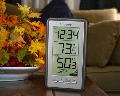 Product Image 4: La Crosse Technology Indoor/Outdoor Temperature WS-9160U-IT Digital Thermometer, Titianium