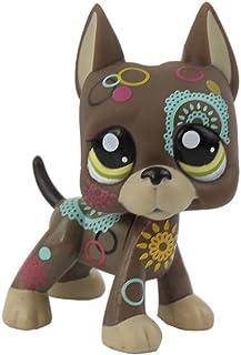 dreamsLE/_Pet toy store 1pc Pet Shop LPS Jouets Figure Figurine Cartoon Animal Chat Chien Figures Collection pour Enfants Cadeau Cr/ème Tan Brown Court Cheveux Cat Coeur Face Chat de ma/ïs