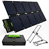 UPGRADE Topsolar SolarFairy 60W Portable Foldable Solar Panel Charger Kit Dual USB 5V + 18V DC Output for Portable Generator Power...