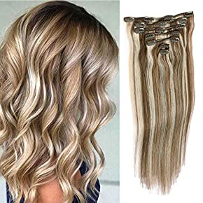 Clip in Hair Extensions Human Hair 7A Grade 70 Grams Natural Silky Clips in Extensions For Fine Hair, 7 Pcs Per Set