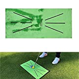 asdfZXCV Alfombrilla De Entrenamiento De Golf para Detección De Swing Bateo Mini Alfombrilla De Entrenamiento De Golf Verde Putting Ball Training Aids Tool Carpet