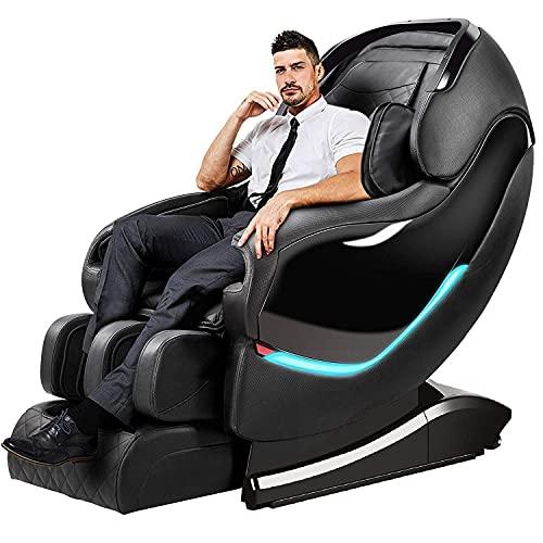 PIAOLIGN Silla de masaje eléctrica de cuerpo completo, silla de masaje multifuncional, silla de masaje totalmente automática con masaje estilo Shiatsu, sillón profesional relax Shiatsu