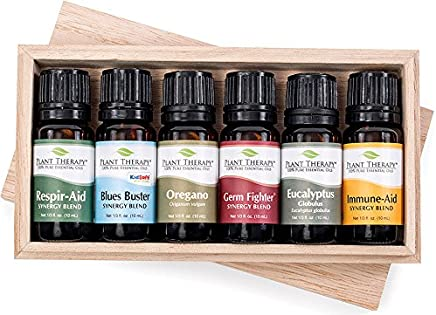 Plant Therapy Wellness Essential Oil Synergy Set (10 mL each) 100% Pure, Undiluted