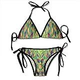 Fondo de ilusión óptica de mujer Conjunto de bikini de dos piezas para mujer Push Up Bikini Trajes de baño con shorts de baño