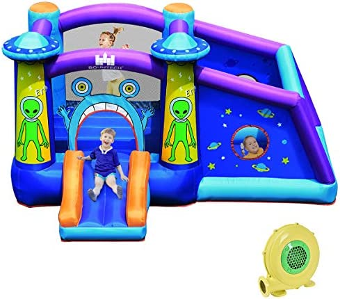 BOUNTECH Inflatable Bounce House Alien Style Bouncy Castle w 480W Air Blower Large Jumping Area product image