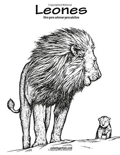 Leones libro para colorear para adultos 1: Volume 1