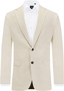 Dobell Mens Cream Suit Jacket Regular Fit Lightweight Linen