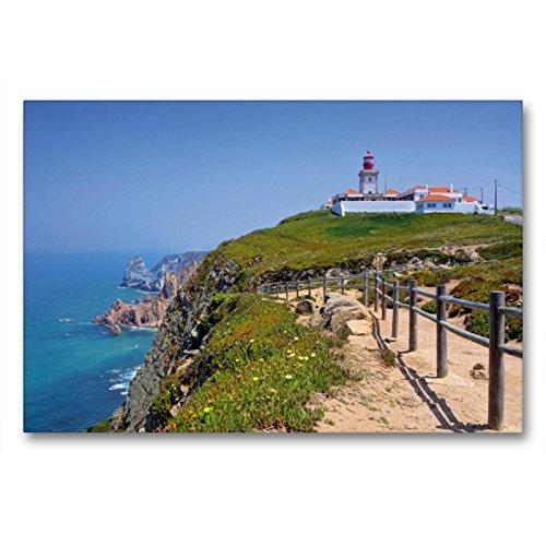 Tela di alta qualità, 90 cm x 60 cm orizzontale, Cabo da Roca   Quadro su telaio, stampa su tela, stampa su tela, motivo: punto occidentale del continente (CALVENDO Orte);CALVENDO
