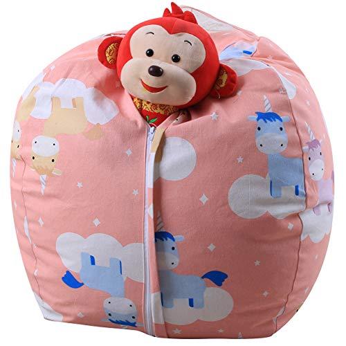 THEE Spielzeug Aufbewharungstasche Streife Sitzsack Aufbewahrung Beutel Lagerung (26 inch, Einhorn)