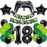 MMTX Globo de Cumpleaños 18 Años, Decoración de Cumpleaños 18, 18er Cumpleaños Globos...
