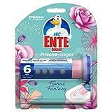 WC-Ente Frische-Siegel Starter-Set (inkl. 1 Nachfüller), körbchenloser WC-Reiniger, Floral Fantasy Duft, 5er Pack (5 x 36 ml)