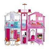 Barbie-la Casa di Malibu per Bambole con Accessori e Colori Vivaci, Giocattolo per Bambini 3+ Anni, 18 x 41 x 74.5 cm, DLY32