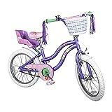 COEWSKE Kid's Bike Steel Frame Children Bicycle Little Princess Style 12-14-16-18 Inch with Training Wheel (Purple, 18 Inch)