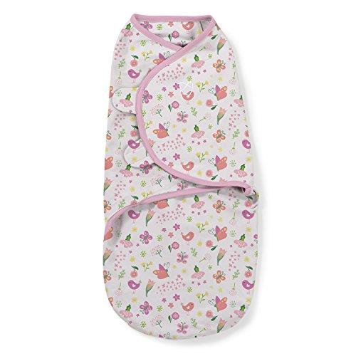 SwaddleMe 56666 Original Pucksack, klein (0-3 Monate), Blumen und Schmetterlinge, rosa