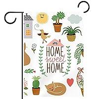 庭の装飾の屋外の印の庭の旗の飾りホームスイートホームベクトルデザイン要素のセット テラスの鉢植えのデッキのため