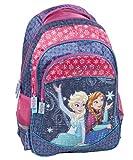 Disney Frozen - Mochila infantil con 2 compartimentos principales, compartimento lateral y red para ...