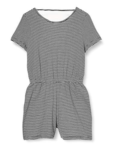 Only Onlmay Life S/s Playsuit Jrs Mono Corto, Azul (Night Sky - Cloud Dancer), XL Mujer