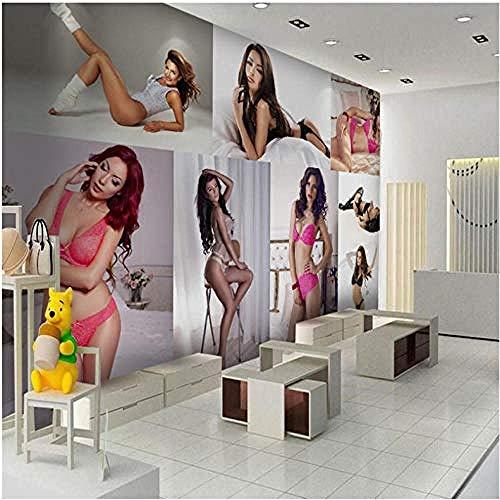 Anpassen jeder Größe Fresco Wallpaper Hd Sexy Beauty Dessous Kleidung Werkzeug Hintergrundwand 430cmx300cm (169.3x118.1inch)