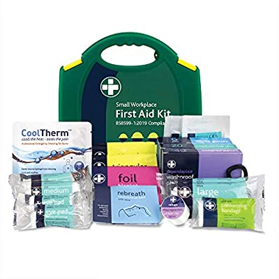 Reliance Medical BS8599-1 Small Workplace First Aid Kit for Ref 330,Green,77305RM from Reliance Medical