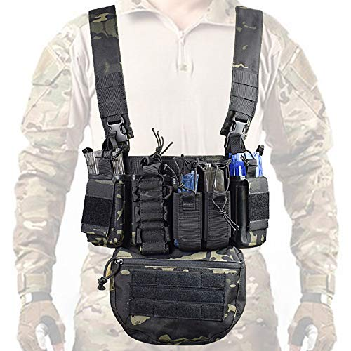 Festnight Laufübung Gewichtsweste Fitness-Tool Trainingsgeräte Sport Multifunktionales Outdoor-Feld CS Army Fan Weste mit Tasche